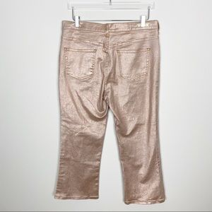 Anthropologie Jeans - {Anthro} Pilcro high rise flare rose gold jeans
